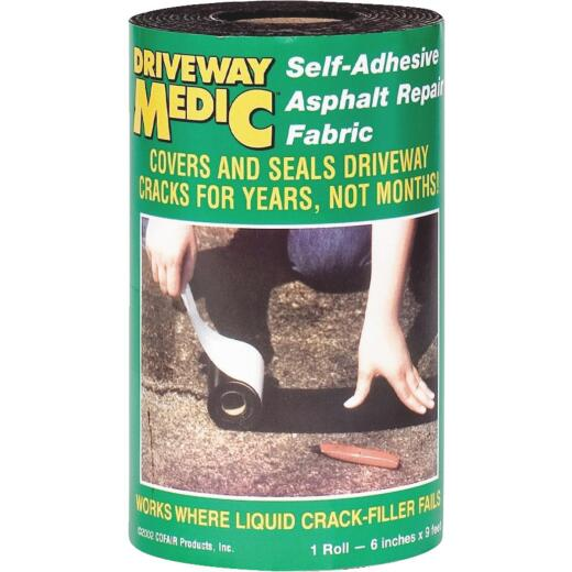 Driveway Medic 6 In. x 9 Ft. Asphalt Repair Fabric