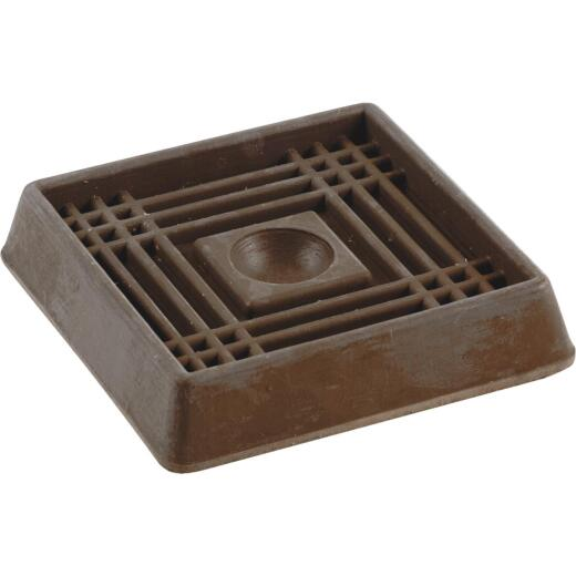 Do it 2 In. Inner Dimension Square Rubber Furniture Cup (4 Count)