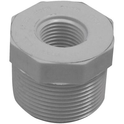 Charlotte Pipe 1-1/4 In. MPT x 1/2 In. FPT Schedule 40 PVC Bushing
