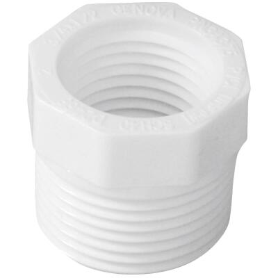 Charlotte Pipe 3/4 In. MPT x 1/2 In. FPT Schedule 40 PVC Bushing