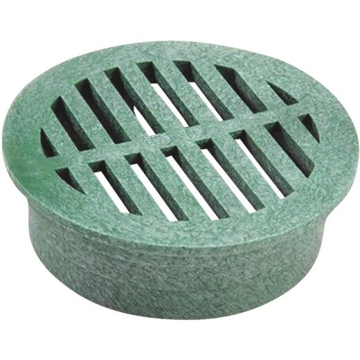 NDS 3 In. Green PVC Round Grate