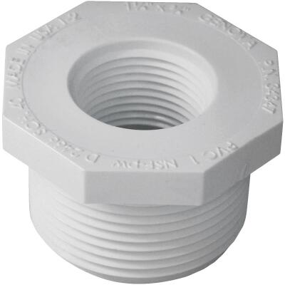 Charlotte Pipe 1-1/4 In. MPT x 3/4 In. FPT Schedule 40 PVC Bushing