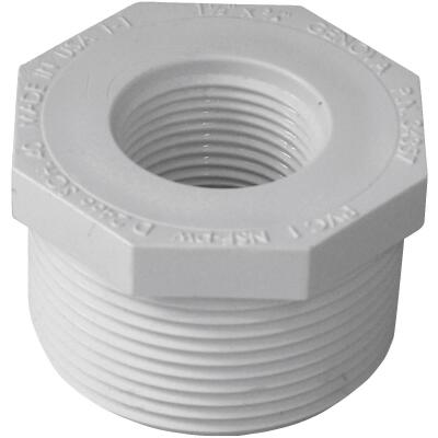 Charlotte Pipe 1-1/2 In. MPT x 3/4 In. FPT Schedule 40 PVC Bushing
