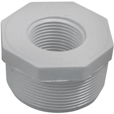 Charlotte Pipe 2 In. MPT x 1 In. FPT Schedule 40 PVC Bushing