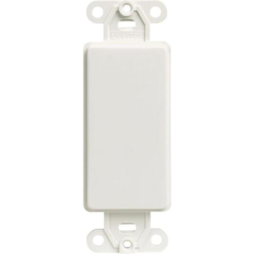 Leviton Decora QuickPort White Blank Wall Plate Insert