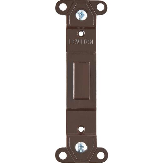 Leviton Brown Blank Toggle Wall Plate Insert