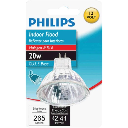 Philips 35W Equivalent Clear GU4 Base MR11 Halogen Floodlight Light Bulb