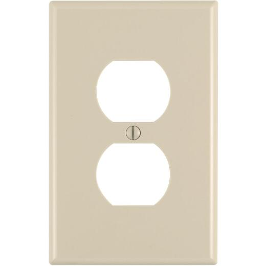 Leviton Mid-Way 1-Gang Thermoplastic Nylon Outlet Wall Plate, Ivory