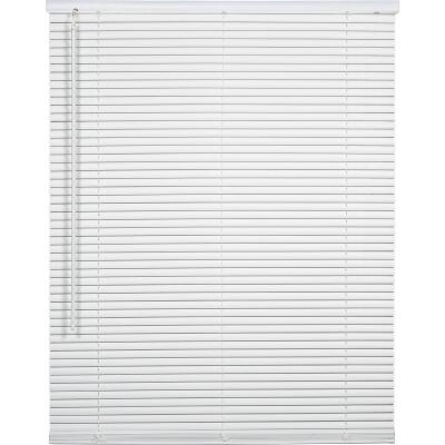 Home Impressions 48 In. x 72 In. x 1 In. White Vinyl Light Filtering Cordless Mini Blind