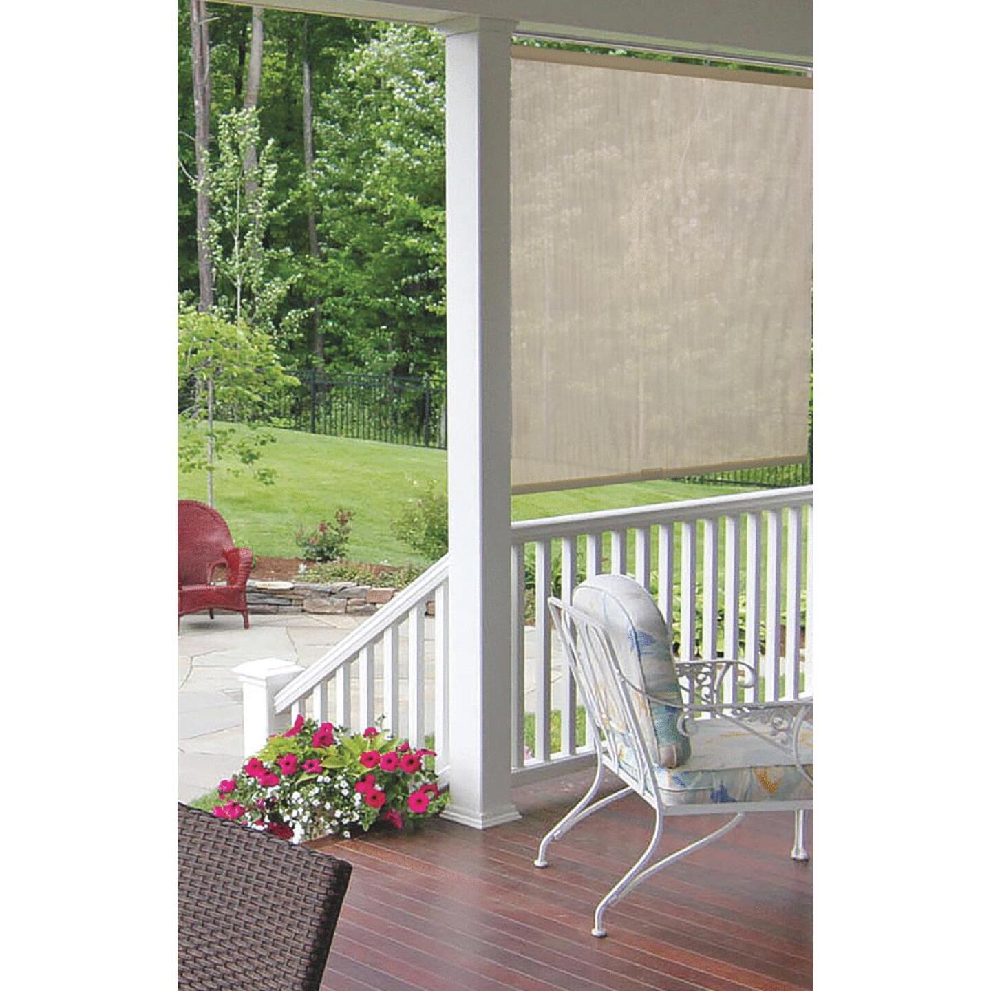 Home Impressions 72 In. x 72 In. Ivory Fabric Indoor/Outdoor Cordless Roller Shade Image 2