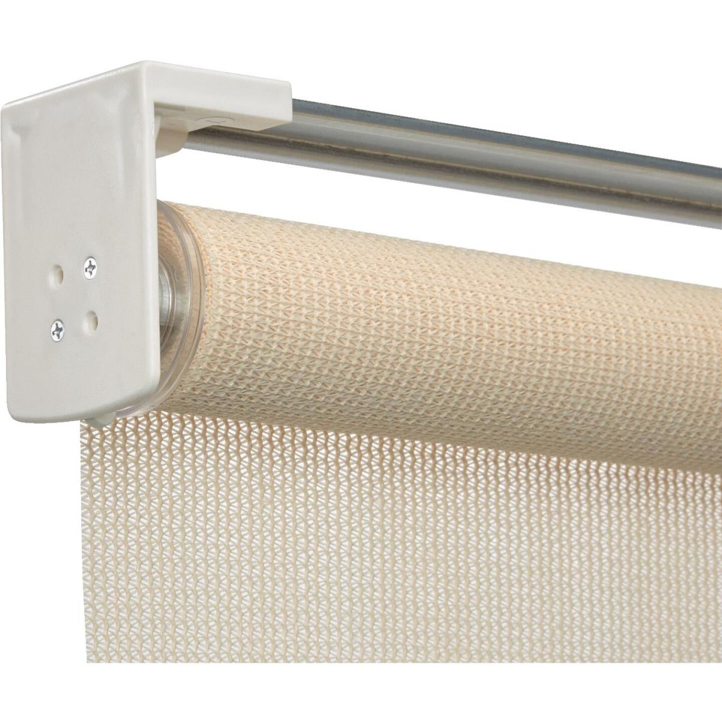Home Impressions 72 In. x 72 In. Ivory Fabric Indoor/Outdoor Cordless Roller Shade Image 3