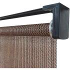 Home Impressions 30 In. x 72 In. Brown Fabric Indoor/Outdoor Cordless Roller Shade Image 1