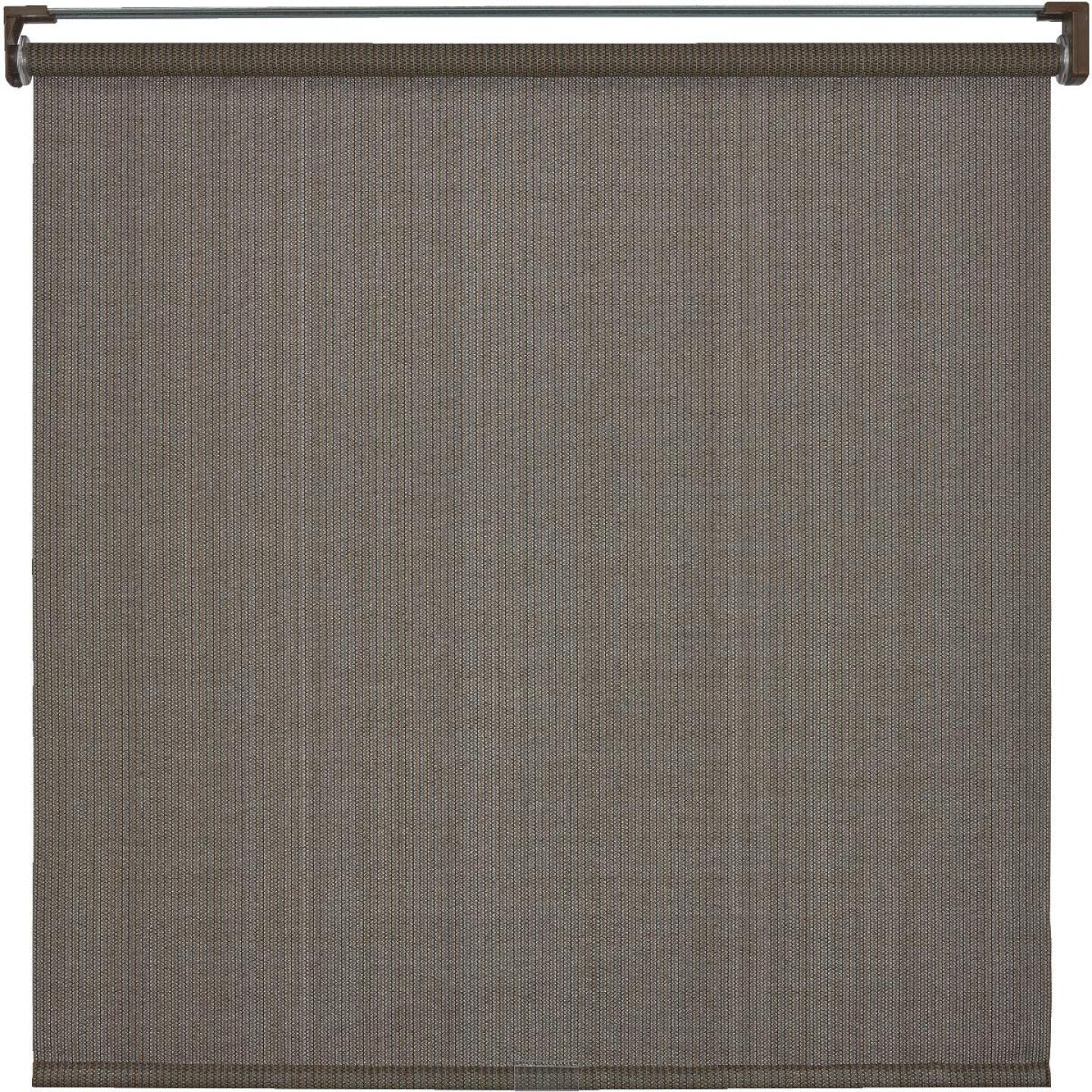 Home Impressions 48 In. x 72 In. Brown Fabric Indoor/Outdoor Cordless Roller Shade Image 1