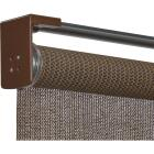 Home Impressions 96 In. x 72 In. Brown Fabric Indoor/Outdoor Cordless Roller Shade Image 3