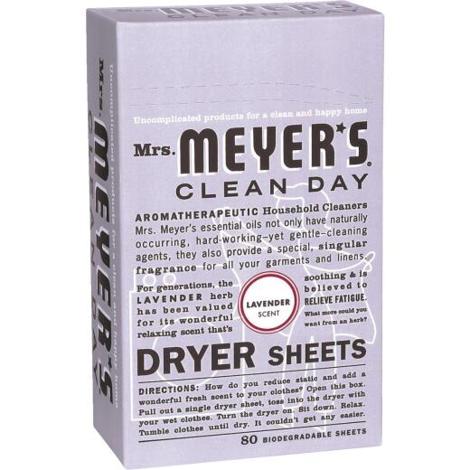 Mrs Meyer's Clean Day Lavender Dryer Sheet (80 Count)
