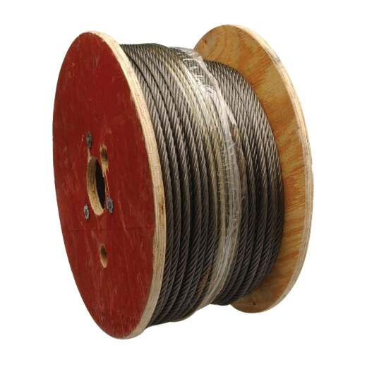 Campbell 3/8 In. x 250 Ft. Fiber Core Wire Cable