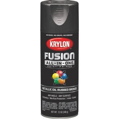 Krylon Fusion All-In-One Metallic Spray Paint & Primer, Oil Rubbed Bronze