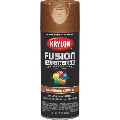 Krylon Fusion All-In-One Hammered Spray Paint & Primer, Copper