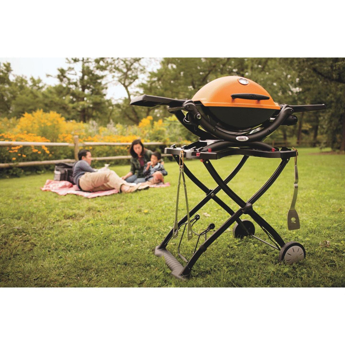 Weber Q 1200 1-Burner Orange 8,500-BTU LP Gas Grill Image 2