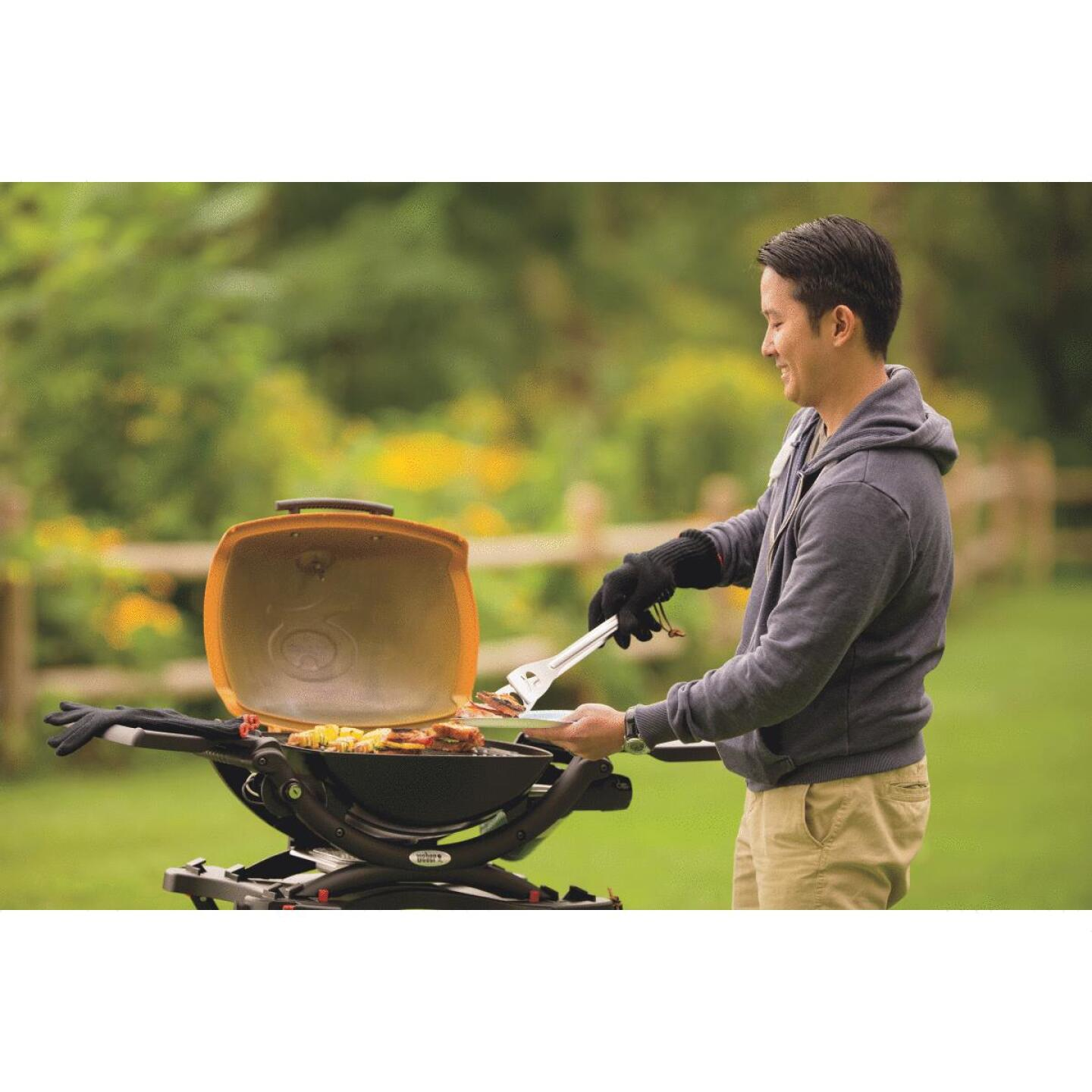 Weber Q 1200 1-Burner Orange 8,500-BTU LP Gas Grill Image 3