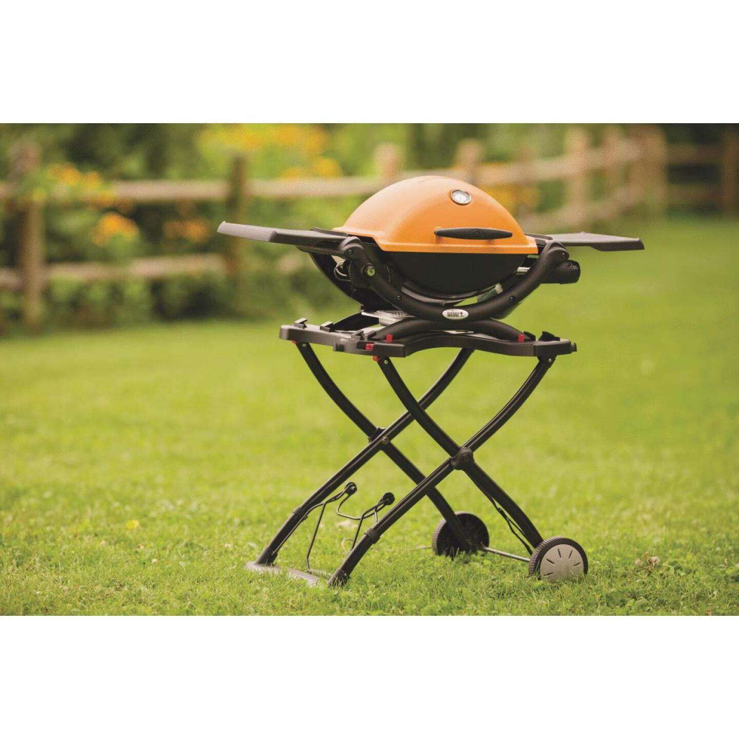Weber Q 1200 1-Burner Orange 8,500-BTU LP Gas Grill Image 4