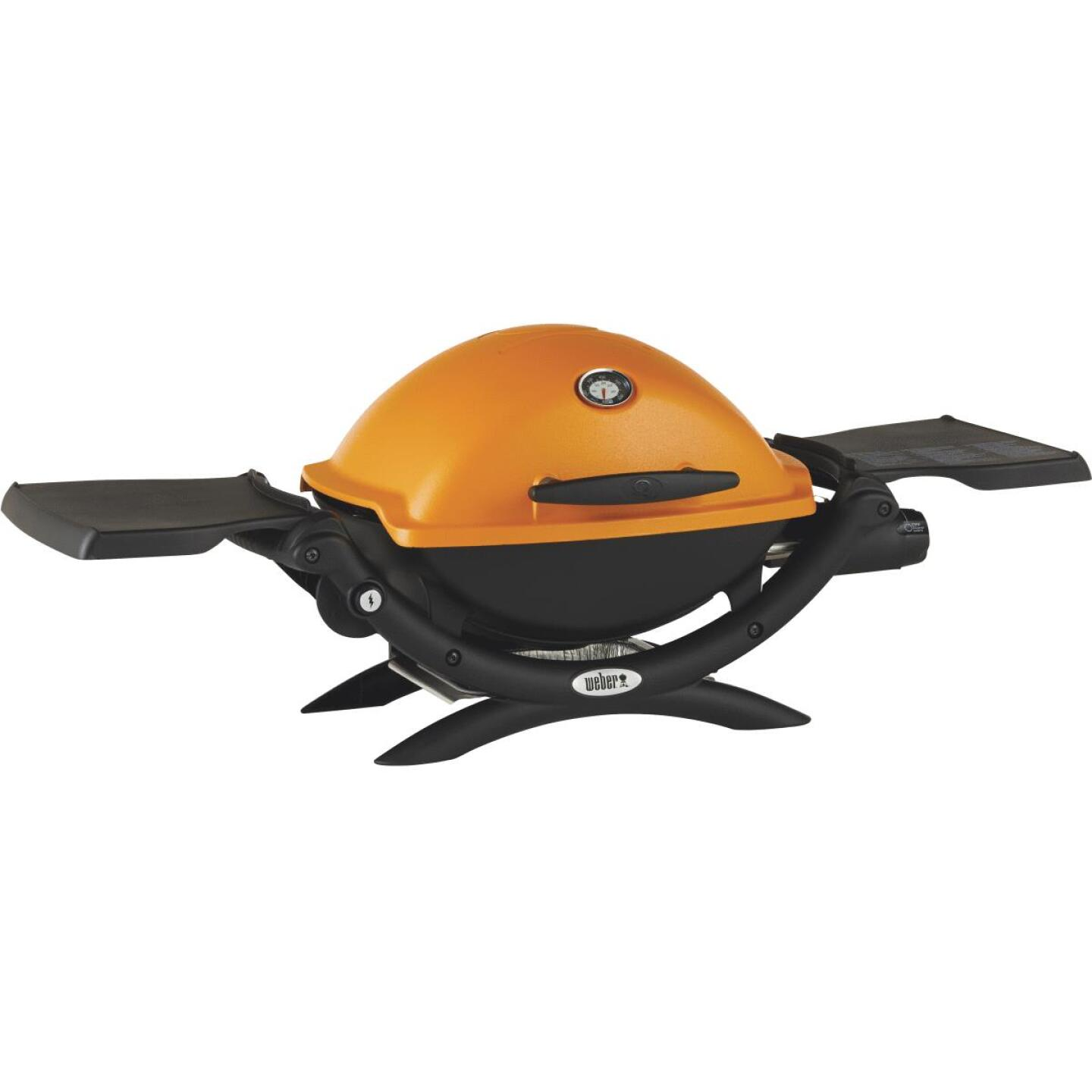 Weber Q 1200 1-Burner Orange 8,500-BTU LP Gas Grill Image 1