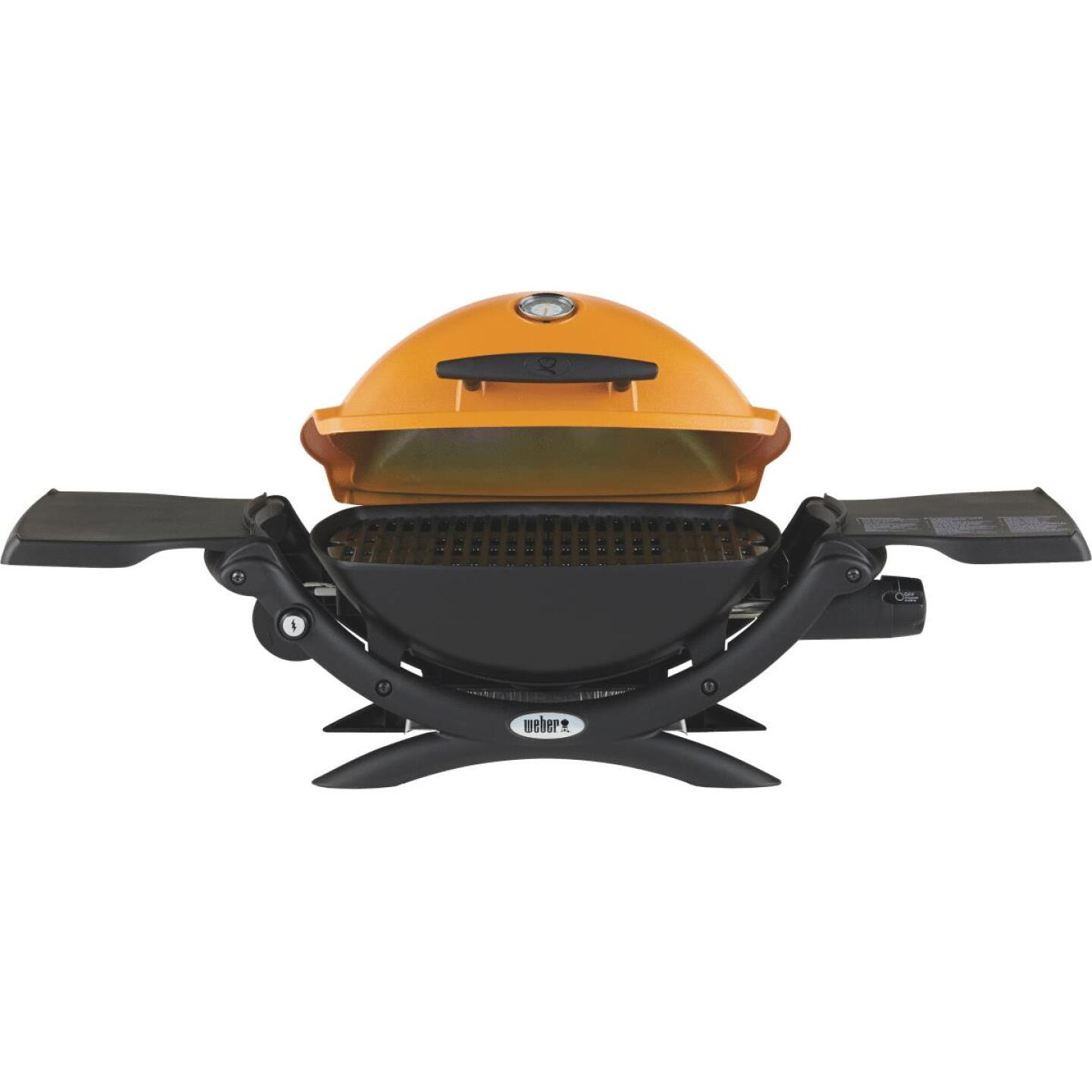 Weber Q 1200 1-Burner Orange 8,500-BTU LP Gas Grill Image 6