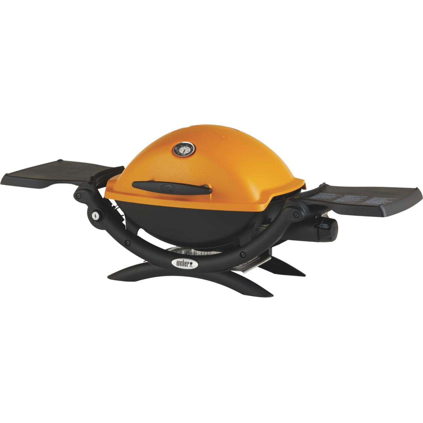 Weber Q 1200 1-Burner Orange 8,500-BTU LP Gas Grill Image 8