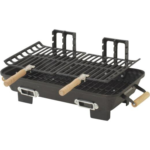 Kay Home Products 22 In. W. x 15 In. D. Black Hibachi Charcoal Grill
