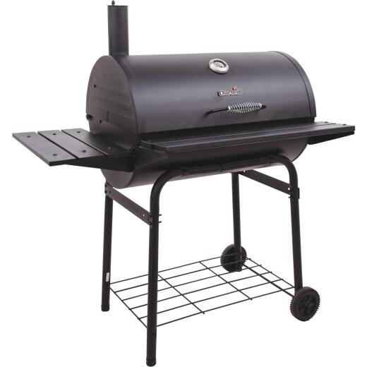 Char-Broil American Gourmet 800 28 In. x 20 In. Black Charcoal Barrel Grill