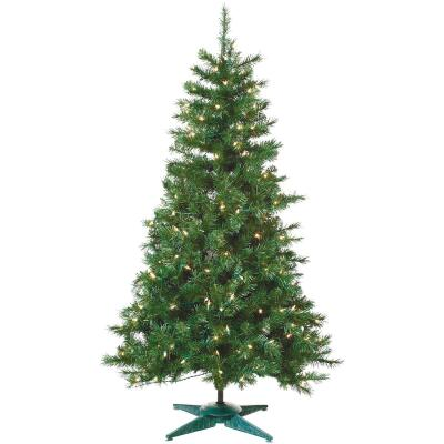 Sterling 4 Ft. Colorado Spruce 150-Bulb Clear Incandescent Prelit Artificial Christmas Tree